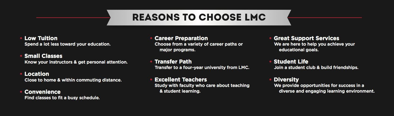 Reasons to choose LMC