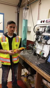 Electrical and Instrumentation Technology student, Carlos Magana, participated in a paid internship with San Francisco Water District.