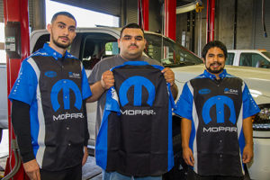 Fiat Chrysler/MOPAR collaborates with LMC's Automotive Technology Program by providing classroom guest speakers, internships, and potential employment.